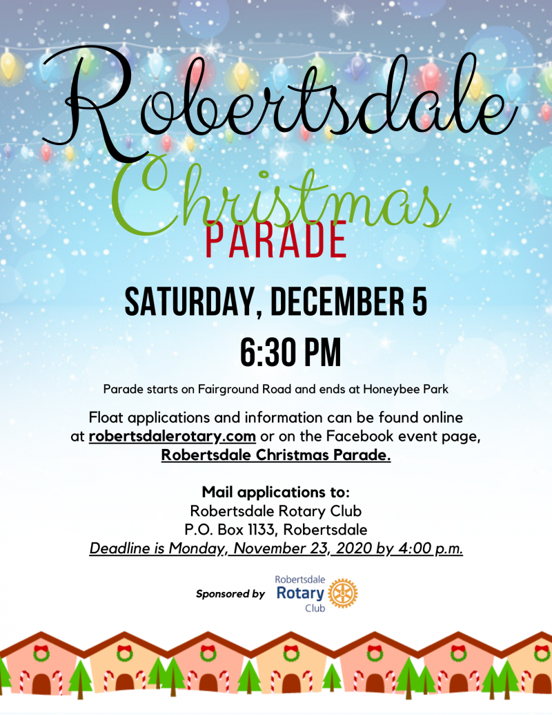 Robertsdale Christmas Parade 2020 Flyer